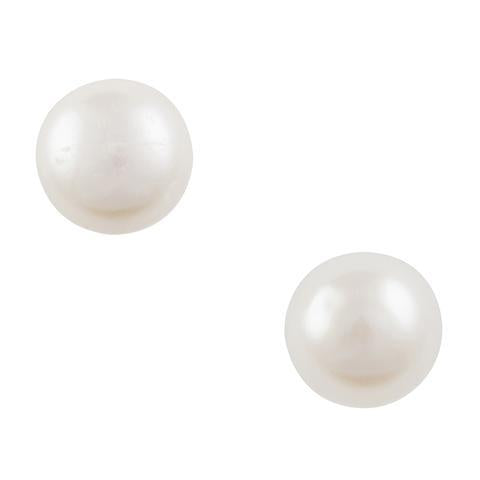 Freshwater Pearl Post Earrings 8mm