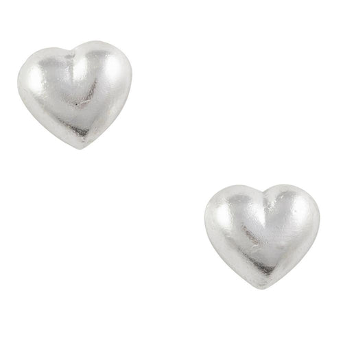 Little Sterling Silver Heart Post Earrings 4mm