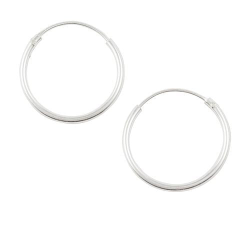 Sterling Silver Endless Hoop Earrings 16mm