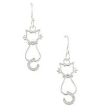 Crystal Kitty Earrings