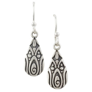 Pear Shaped Bali Earrings