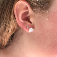 Maxi Cubic Zirconia Stud Earrings