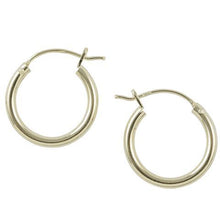 14K Gold Plate Hinged Hoop Earrings 16mm