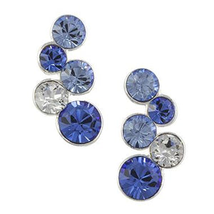 Blue Crystal Bubble Earrings