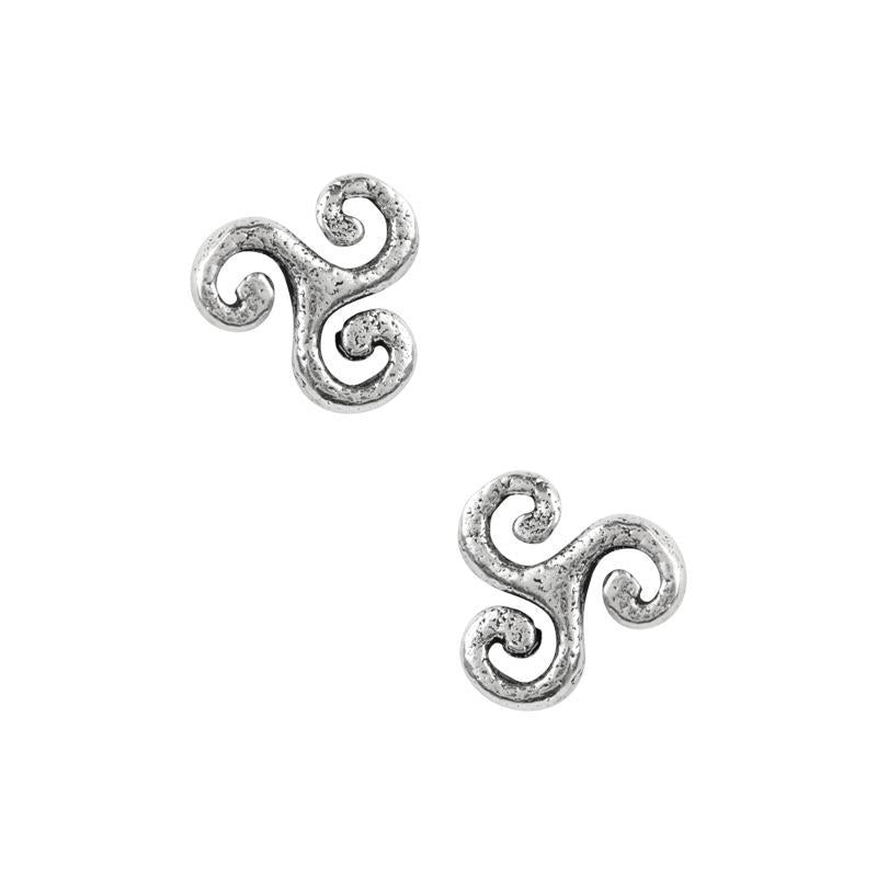 Celtic Triskelion Post Earrings