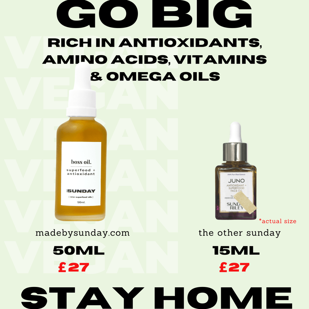 Boss Oil - superfood + antioxidant rejuvenating face oil MADEBYSUNDAY.COM