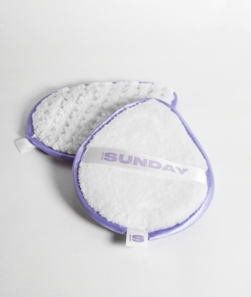 magic eraser - microfibre reusable makeup remover pad (no product - just water) MADEBYSUNDAY.COM