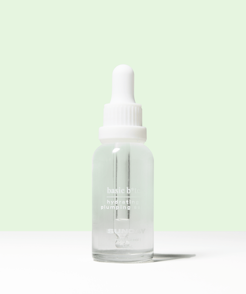 basic b*tch - hydrating & plumping 3% hyaluronic acid + 2% vitamin B5 MADEBYSUNDAY.COM
