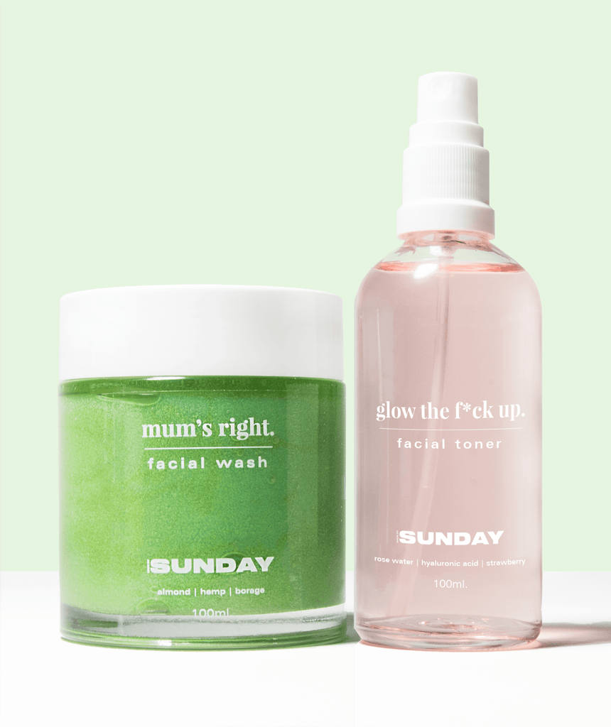 hey mama - oil to milk cleanser + toner MADEBYSUNDAY.COM