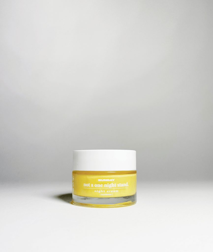 not a one night stand - buckthorn + AHA regenerative night cream MADEBYSUNDAY.COM