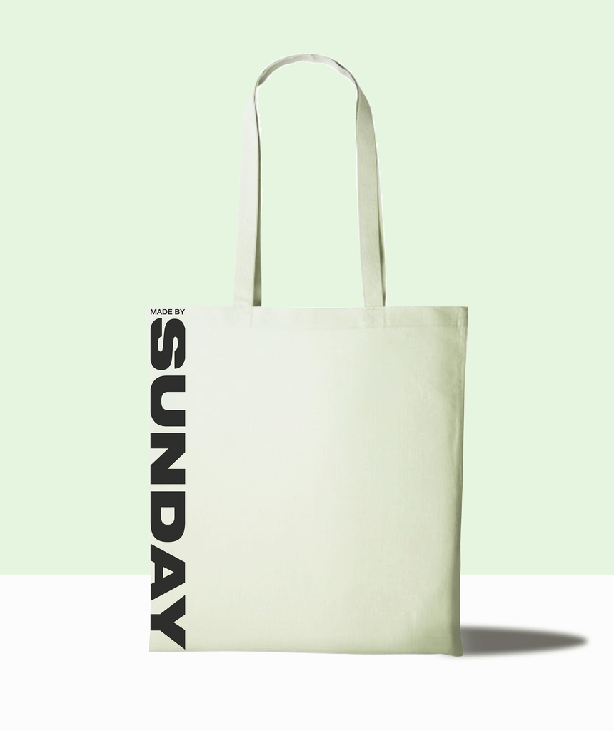 secure the bag - 100% recycled cotton tote bag MADEBYSUNDAY.COM