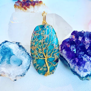 Jasper Tree of Life Necklace