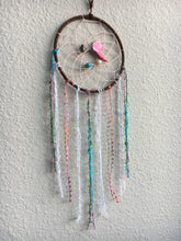 Load image into Gallery viewer, Pink Stone Beaded Dreamcatcher