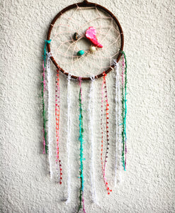 Pink Stone Beaded Dreamcatcher
