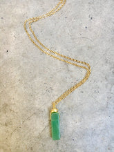 Load image into Gallery viewer, Jade Rectangle Wrap Necklace
