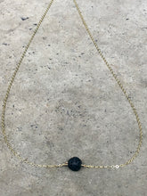 Load image into Gallery viewer, Lava Stone Dainty Gold Necklace