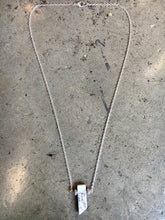 Load image into Gallery viewer, Howlite Stone Pendent on Silver