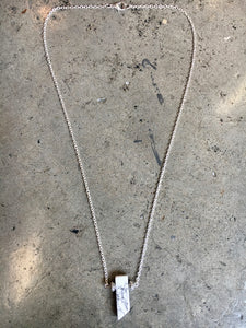 Howlite Stone Pendent on Silver