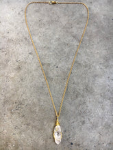 Load image into Gallery viewer, Clear Quartz Gold Caged Necklace