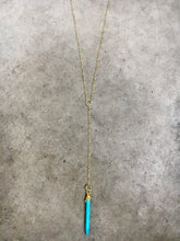 Load image into Gallery viewer, Turquoise Point Y Necklace