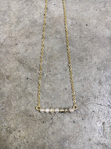 Smokey Quartz Bar Necklace
