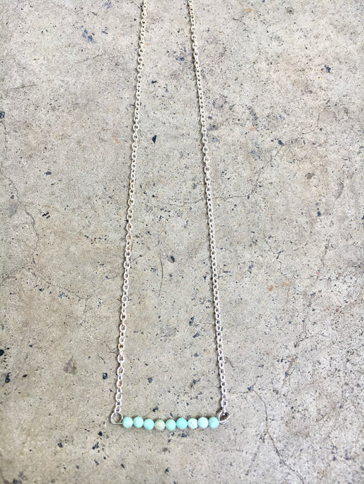 Amazonite Line Necklace