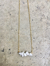 Load image into Gallery viewer, Howlite Line Necklace