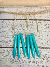 Load image into Gallery viewer, Three Turquoise Hoops Earrings