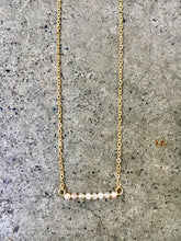 Load image into Gallery viewer, Moonstone Bar Necklace
