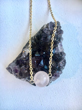 Load image into Gallery viewer, Rose Quartz Ball Necklace
