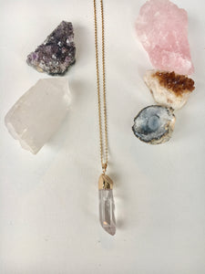 Long Clear Quartz Necklace