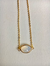 Load image into Gallery viewer, Dainty Oval Opal Necklace