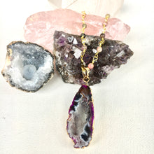 Load image into Gallery viewer, Pink Agate and Tourmaline Necklace