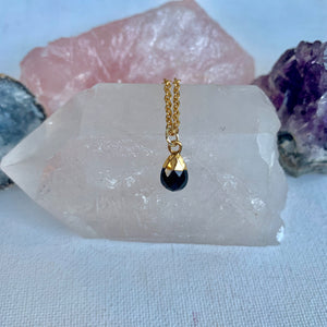Black Onyx Drop Necklace