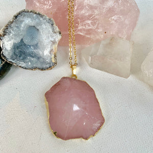 Bulk Pink Rose Quartz Necklace