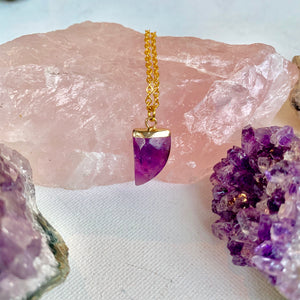 Amethyst Tooth Necklace