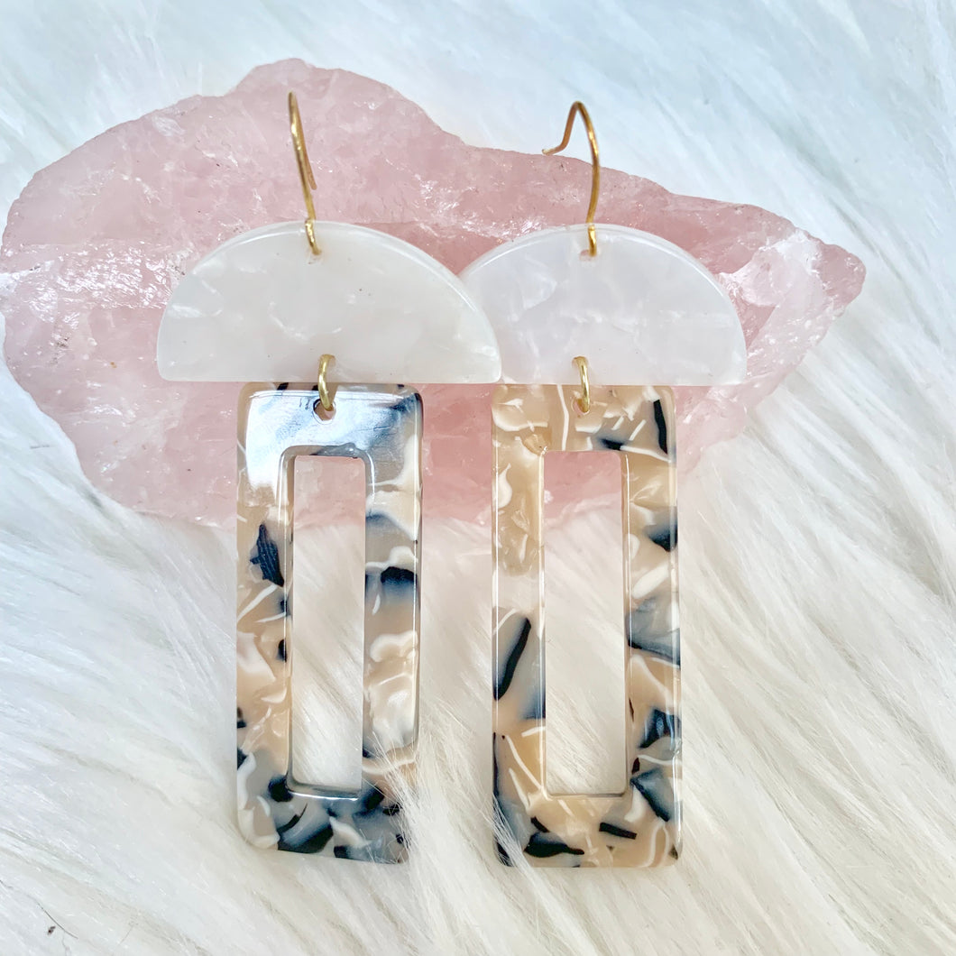 Acrylic Geometric Earrings