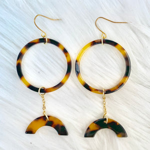 Geometric Brown Earrings