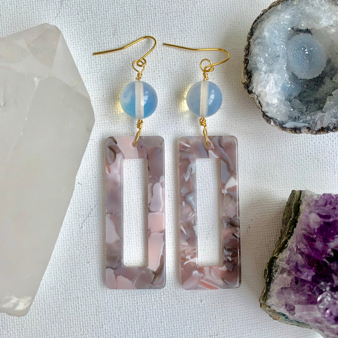 Opal Acrylic Earrings