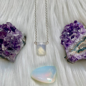 Opal Rectangle Necklace