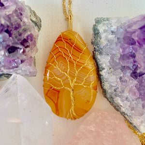 Agate Tree of Life Necklace