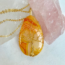 Load image into Gallery viewer, Agate Tree of Life Necklace