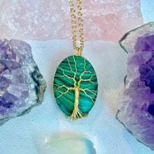 Load image into Gallery viewer, Malachite Tree of Life Necklace