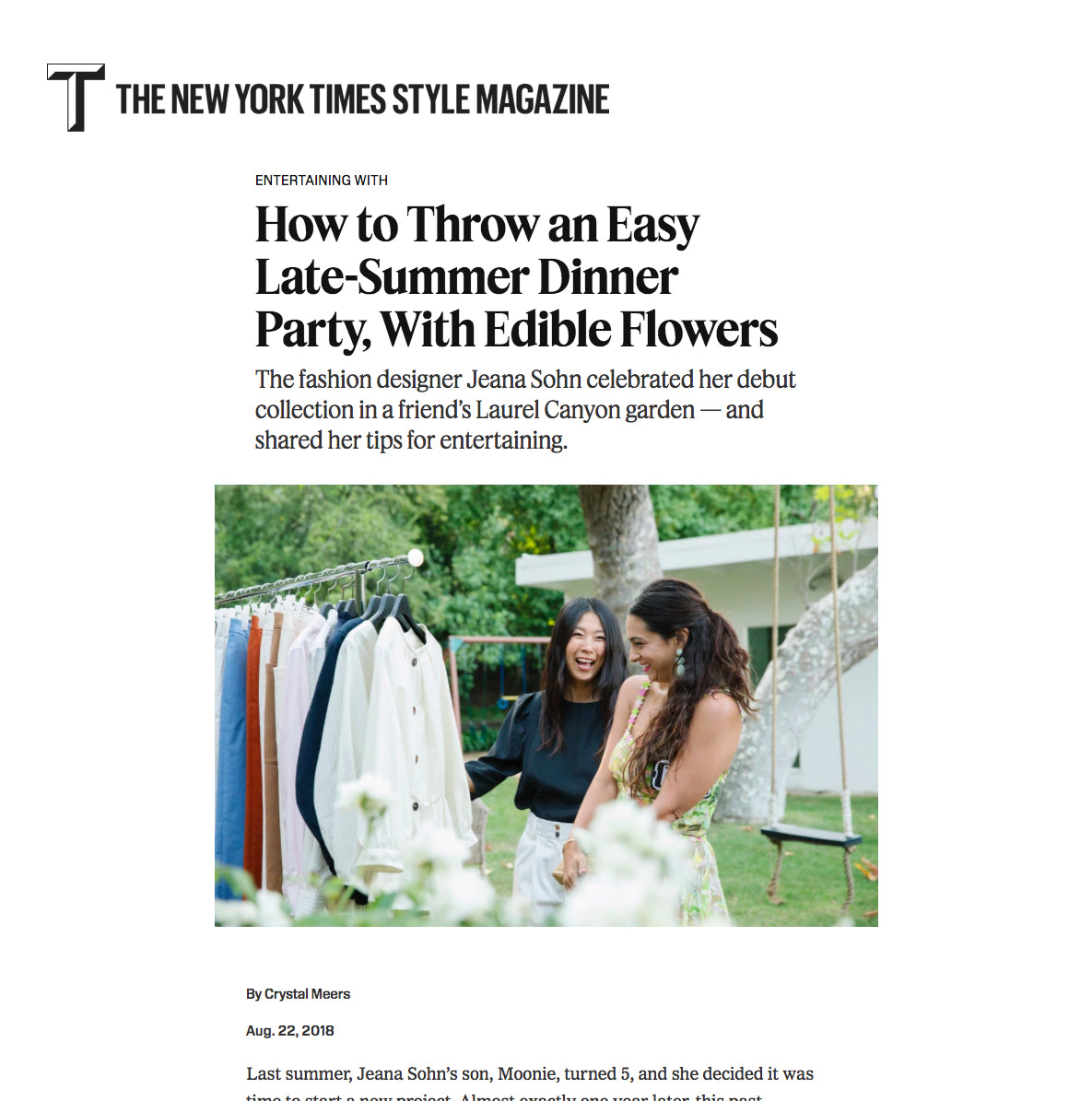 T Magazine - How to Throw an Easy Late-Summer Dinner Party, With Edible Flowers