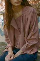 Cleo Layered Blouse - Terracotta