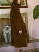 Seoul Shearling Cocoon (long) - Chestnut