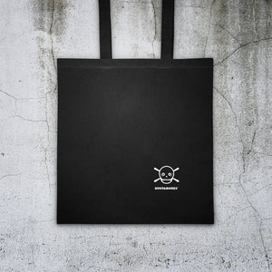 Skull Flowers Black Tote bag