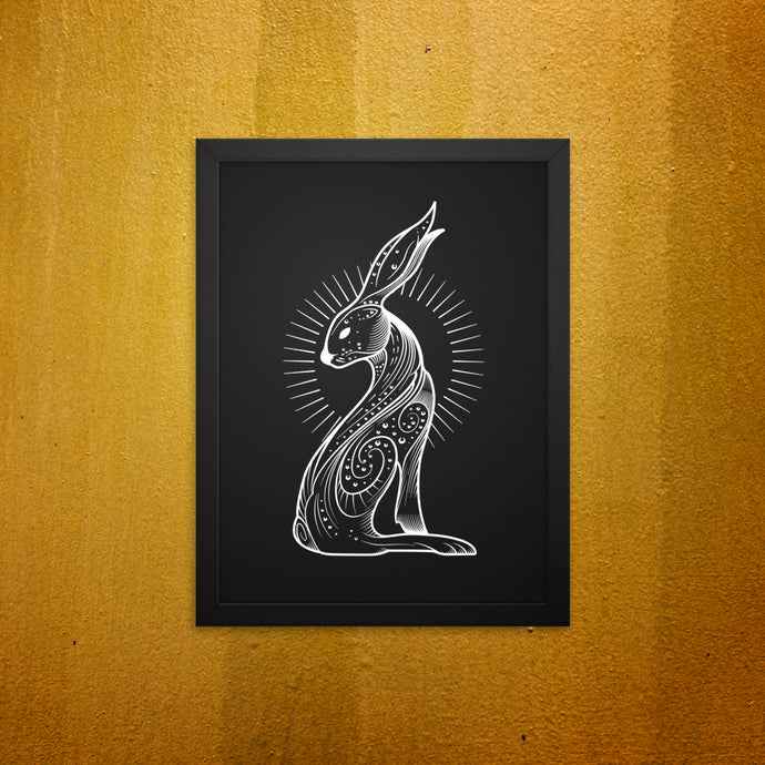 Galaxy hare framed wall picture