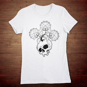 Skull Flowers Women's T-shirt