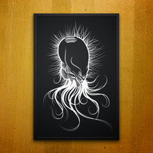 Squid-head Framed Wall Picture